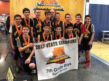 Esperero Canyon 7th Grade Basketball State Champions