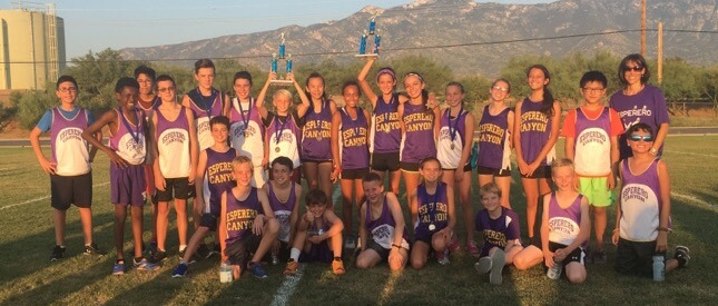 Esperero Canyon Cross Country takes 1st Place at the Coronado Meet
