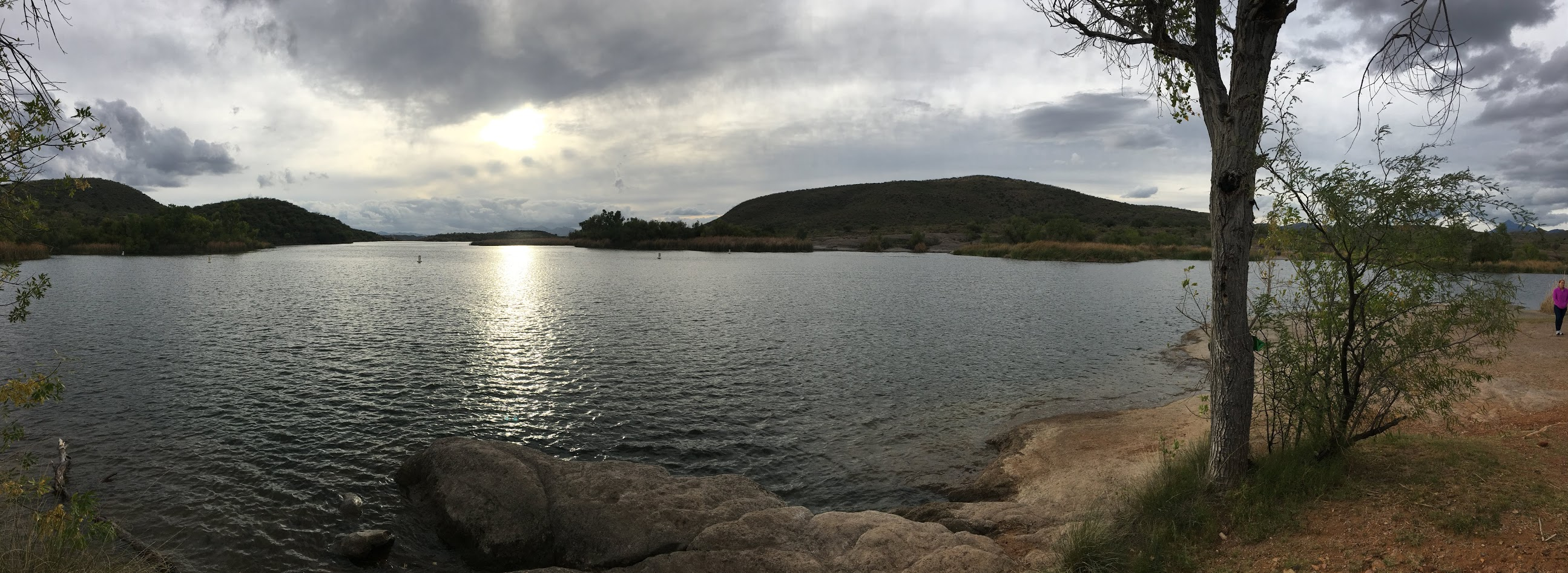 Image of Patagonia Lake in Santa Cruz county Arizona.
