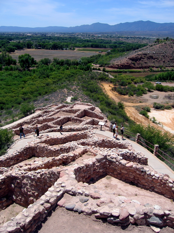 Image of Tuzigoot National Monument at Verde Valley in Cottonwood Arizona.