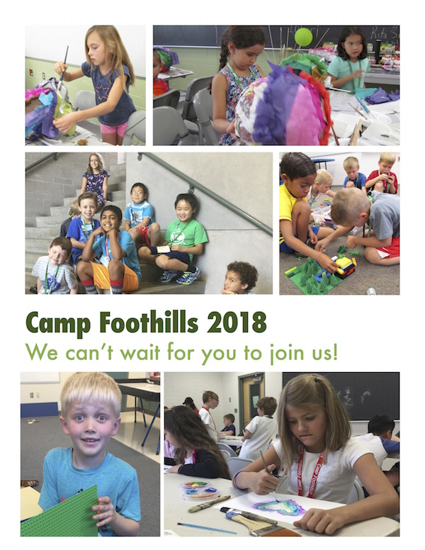 Camp Foothills 2018 Can't wait for you to join us!  Pictures of Children Having Fun in Camp
