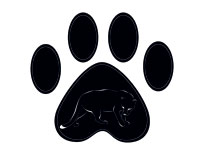 Orange Grove Middle School Panther Paw Print Logo