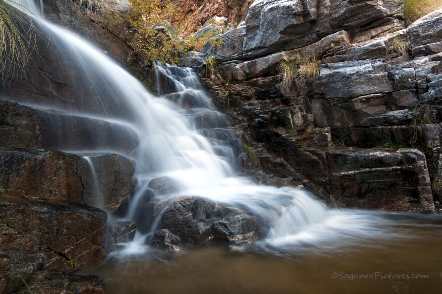 image of 7 falls in sabino canyon